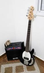 Contra Baixo Tagima 5 Cordas TBM 5 + Cubo Brixton Bass 80 Classic
