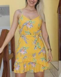 Vestido Alça Floral - Tamanho M - @use.closetdemaria