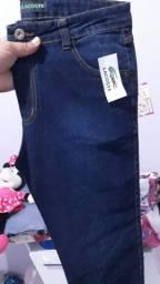 Calças jeans com lycra. Leia