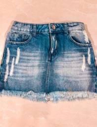 Saia jeans {tamanho 14}