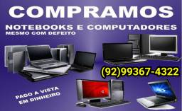 C.O.M.P.R.O notebooks e PC com defeitos.
