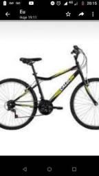 Bicicleta Caloi nova na Caixa/ aro26/ 21 marchas/ cor preta e verde
