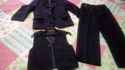 Conjunto calça blazer colete