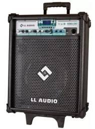Caixa Multiuso Ll Audio Stone 250 Bat Usb Sd Fm Alça Mic Sem Fio