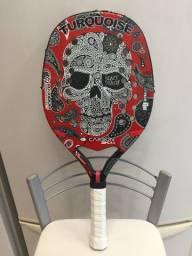 Raquete de Beach Tennis (Turquoise Black Death 2018)