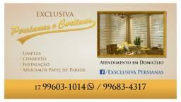Instalação, manutenção e limpeza de persianas e cortinas de todos os modelos