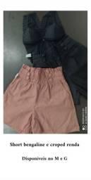 shorts e croped