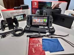 Nintendo Switch Desb.Lo.Queado c/ Garantia + Kit DreamGear - Pode jogar Online