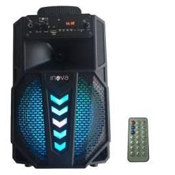 Caixa de Som Nova Bluetooth Usb Aux Sd P10 Led Radio Fm