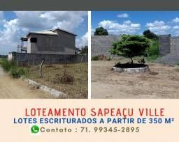 Título do anúncio: Loteamento Sapeaçu Ville, lotes escriturados, a partir de R$ 65.000,00, infraestrutura