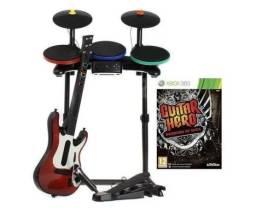 Guitar Hero Warriors Of Rock Conjunto Bateria / Guitarra / Microfone