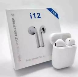 Fone de ouvido sem fio AirPods i12 TWS