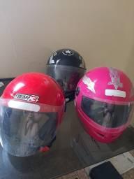 Título do anúncio: 03 capacete