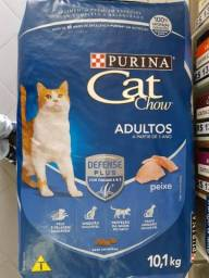 Ração Purina Cat Chow Adulto Peixe ou Carne 10kg por Apenas R$104,99