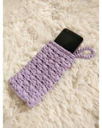 Case para celular crochê