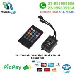 158 - Controlador Sensor Rítmico Musical Fita Led Rgb 5050 3528