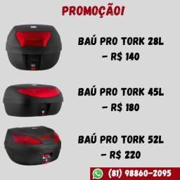Baú Moto Pro Tork 28L / 45L / 52L Aceito Cartão