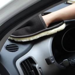 Luva De Lã Para Lavar, Aplicar Cera Carro Moto, Uso Em Geral