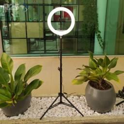 Ring Light 26cm led + tripé 2,10m kit blogueira novos na caixa pronta entrega