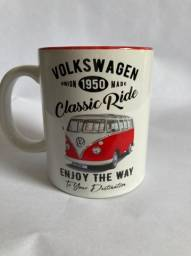 House Caneca Porcelana Vw Kombi Classic Ride Branco 320ml