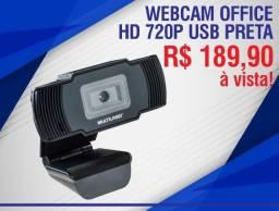 Webcam Office Hd 720P Usb Preta