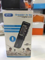 Mini gravador digital com memória interna de 8 GB