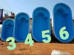 piscinas de fibra vários tamanhos