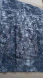 Tapete azul mesclado 2,0x1,40 NOVO