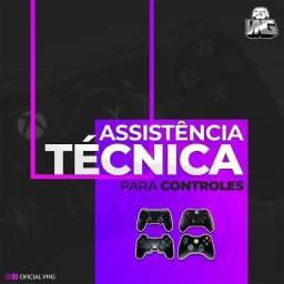 Assistência técnica de Consoles e Controles.