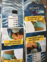 Pulseira Contra Covid de Biossegurança / Pulseira para álcool / Pulseira Dispenser