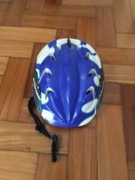 Kit proteção skate / patins / bicicleta infantil cor azul