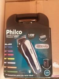 Maquina de cortar cabelo philco titanium pró 14w nova na caixa