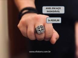 Anel em aço Inoxidável -  Preço especial 2 x R$35,00