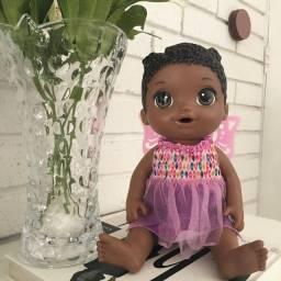 Boneca Baby Alive Negra