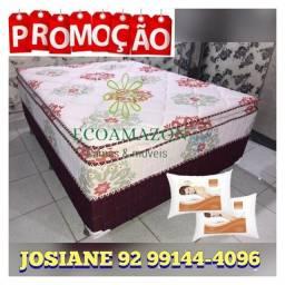 Título do anúncio: CAMA CASAL MOLAS ENSACADAS *** COM PILLOW TOP