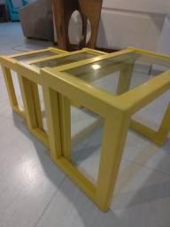 Vendo mesinhas madeira e vidro