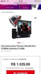 Vendo DVD Pioneer Retrátil Avh X7580bt