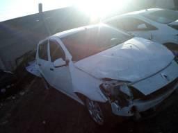 Sucata Renault Sandero Branco Authentique 1.0 16v 2012