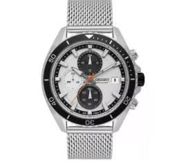 f5abcf417db Relógio Orient Cronógrafo Masculino Mbssc178 S1sx estado de novo