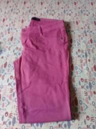 Calça jeans feminina rosa
