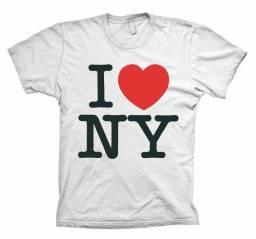 Camiseta ou regata I Love New York, estilosa C30 Original