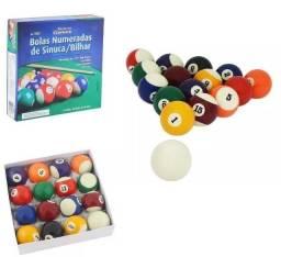 Bola Bilhar Snooker Sinuca 16 Bolas 52mm Numeradas Jogo - Western