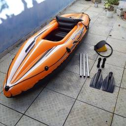 Caiaque Mor Inflável + Remos Sport Pathfinder - para adultos