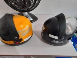 1 capacetes usados amarelo