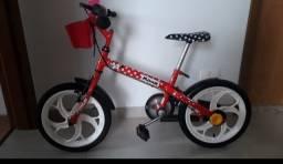 Bicicleta Caloi aro 16 Minnie Vermelha