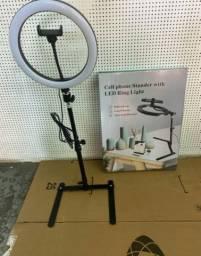 Iluminador  ring light 10 polegadas com tripe