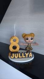 Velas de aniversário de biscuit personalizadas