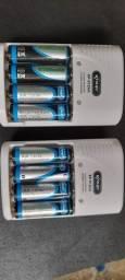 Título do anúncio: Pilhas recarregaveis com carregador zerados PROMOÇÃO