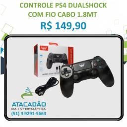 Título do anúncio: Controle PS4 Dualshock Com Fio Cabo 1.8MT