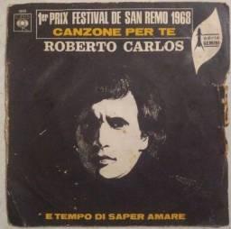 Título do anúncio: COMPACTO DE ROBERTO CARLOS DE SAM REMO 1968, LANÇADO NA FRANÇA
